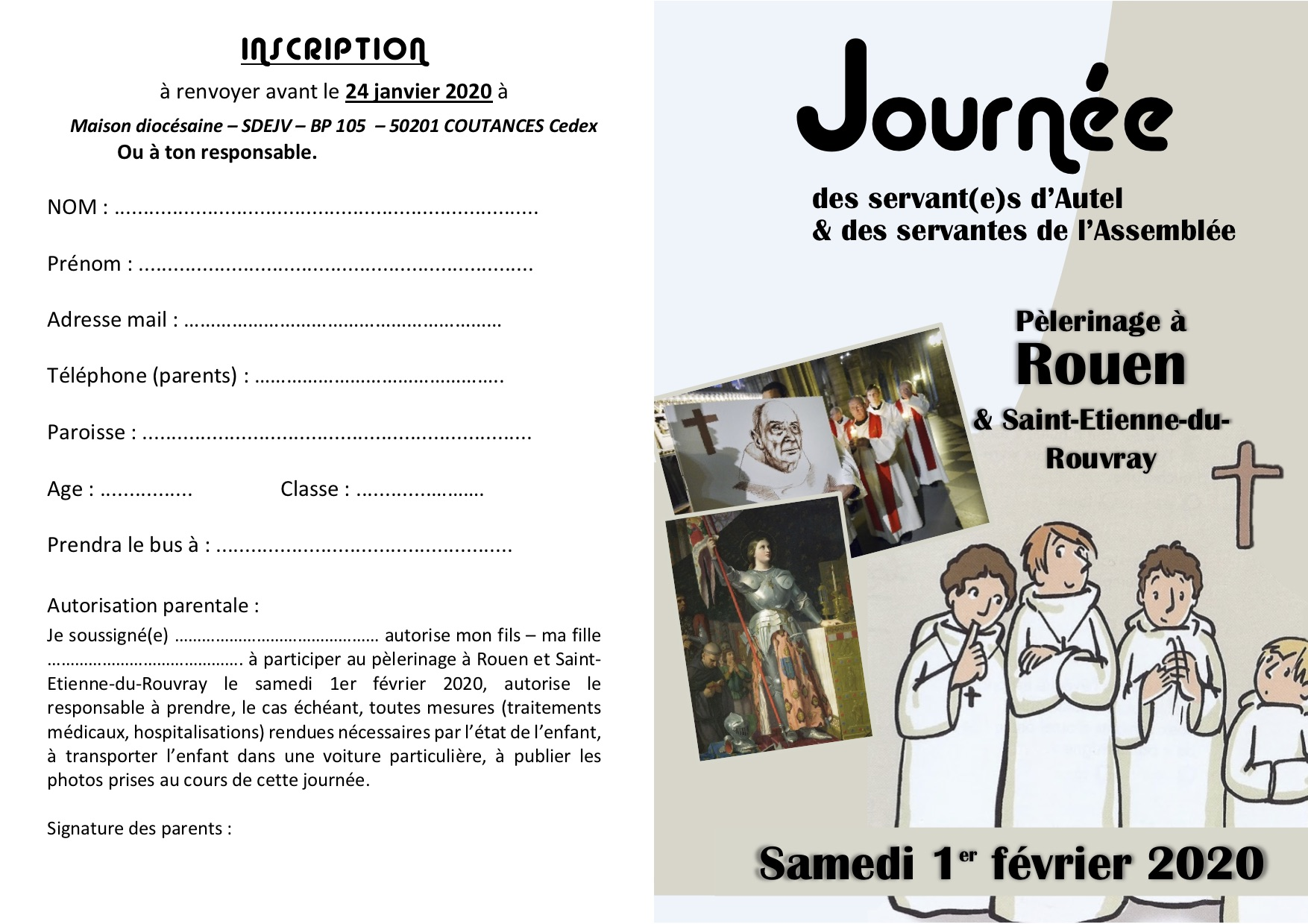 Tract Journee des Servants a Rouen RECTO